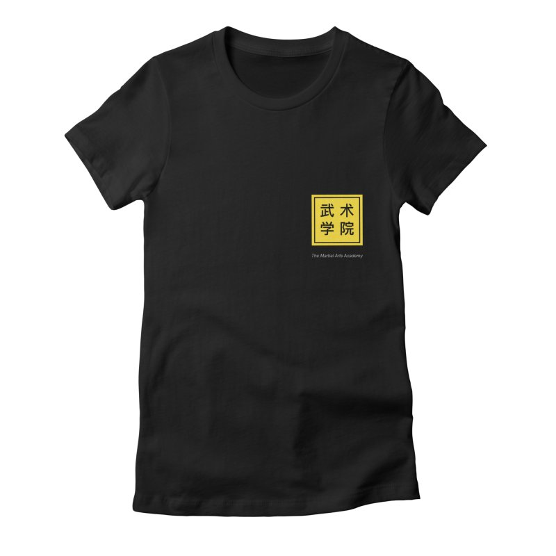 Logo Square White Type Women's Fitted T-Shirt by The Martial Arts Academy's Store
