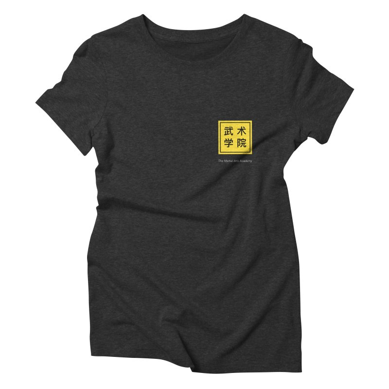 Logo Square White Type Women's Triblend T-Shirt by The Martial Arts Academy's Store
