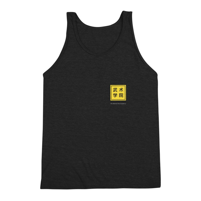 Logo Square White Type Men's Triblend Tank by The Martial Arts Academy's Store