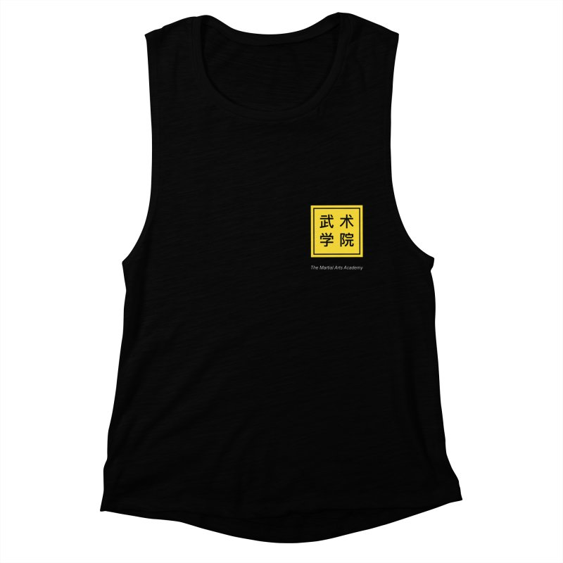 Logo Square White Type Women's Muscle Tank by The Martial Arts Academy's Store