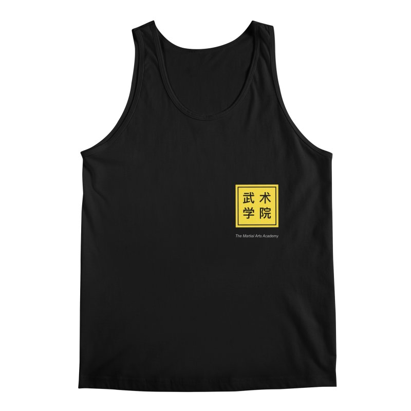 Logo Square White Type Men's Regular Tank by The Martial Arts Academy's Store
