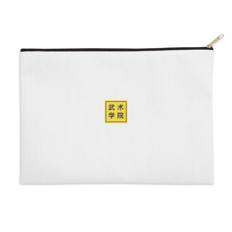 Logo Square White Type Accessories Zip Pouch by The Martial Arts Academy's Store