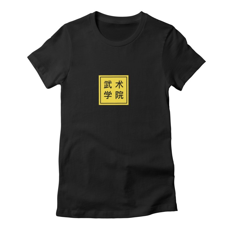 Logo Square No type in Women's Fitted T-Shirt Black by The Martial Arts Academy's Store