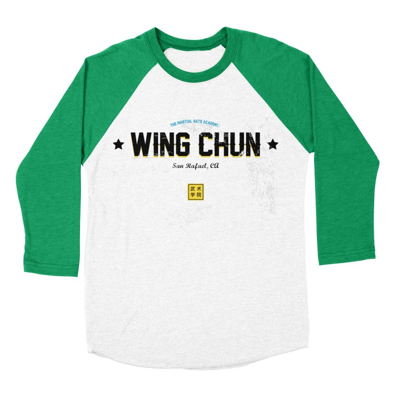 Wing Chun - Old Style in Men's Baseball Triblend Longsleeve T-Shirt Tri-Kelly Sleeves by The Martial Arts Academy's Store