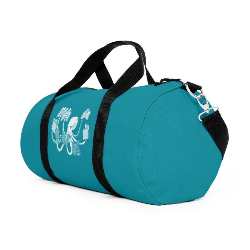 Armed with knowledge Accessories Duffel Bag Bag by Martina Scott's Shop