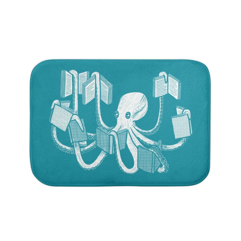 Armed with knowledge Home Bath Mat by Martina Scott's Shop