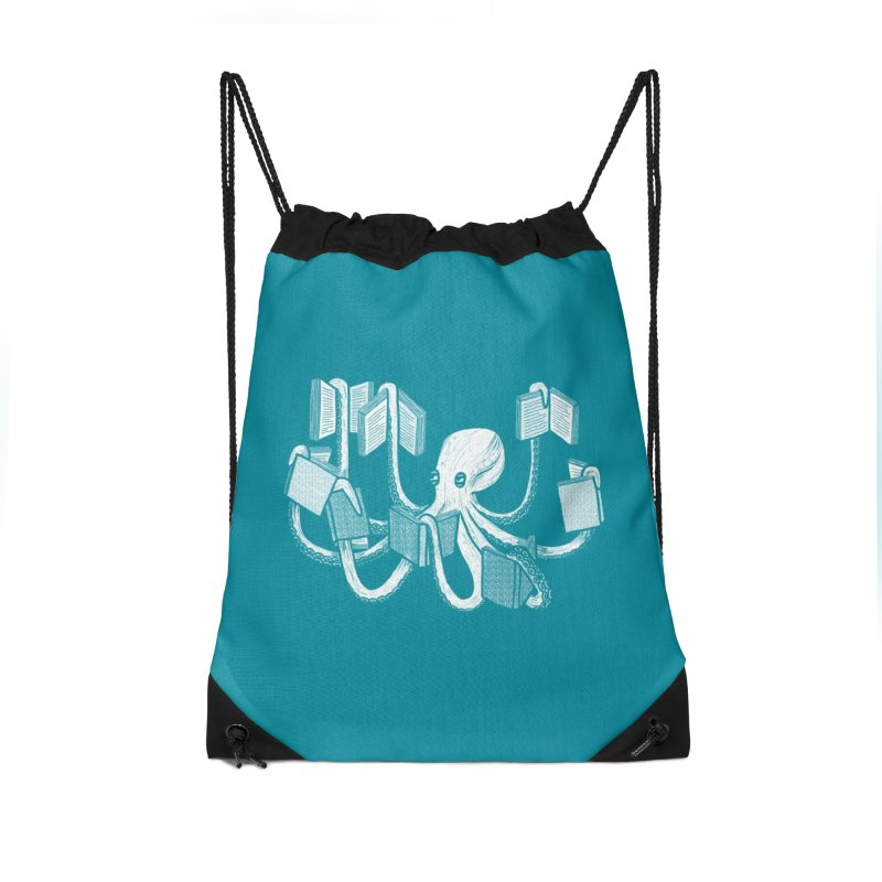 Armed with knowledge Accessories Drawstring Bag Bag by Martina Scott's Shop