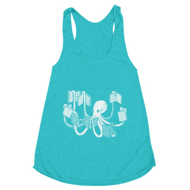 Armed with knowledge Women's Racerback Triblend Tank by Martina Scott's Shop