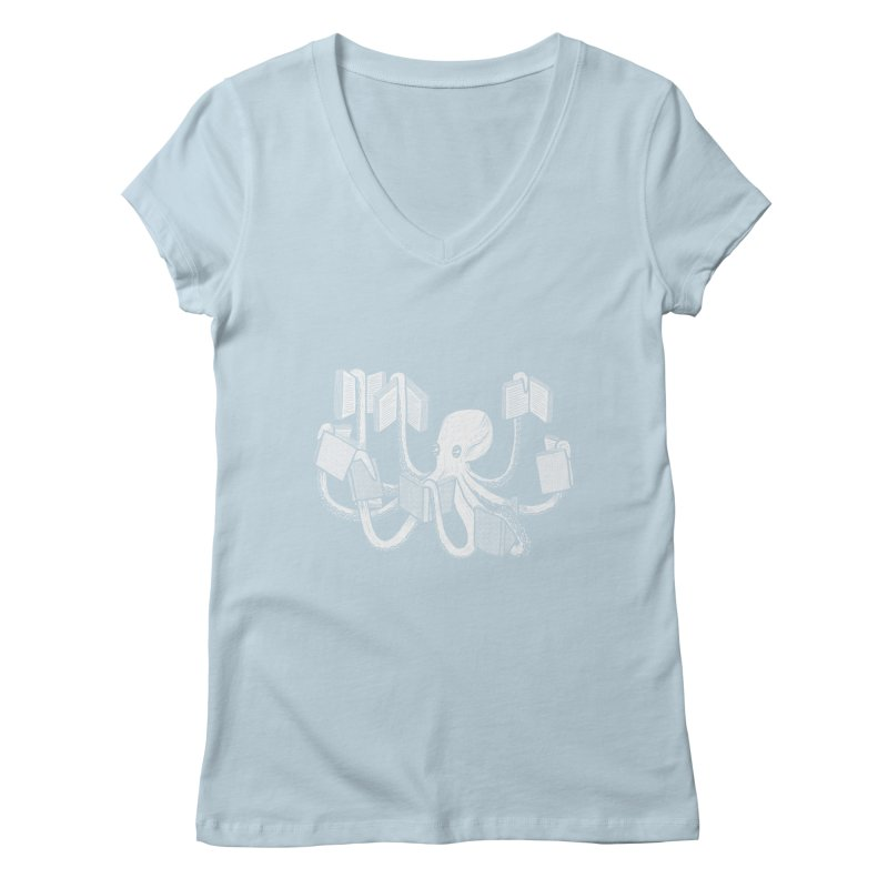 Armed with knowledge Women's Regular V-Neck by Martina Scott's Shop