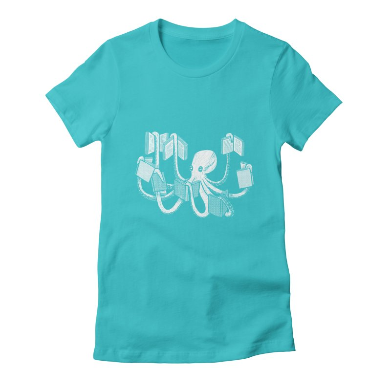 Armed with knowledge Women's Fitted T-Shirt by Martina Scott's Shop