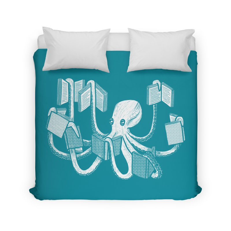 Armed with knowledge Home Duvet by Martina Scott's Shop