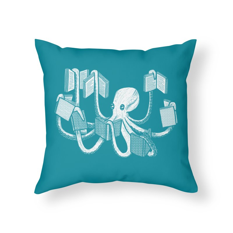Armed with knowledge Home Throw Pillow by Martina Scott's Shop