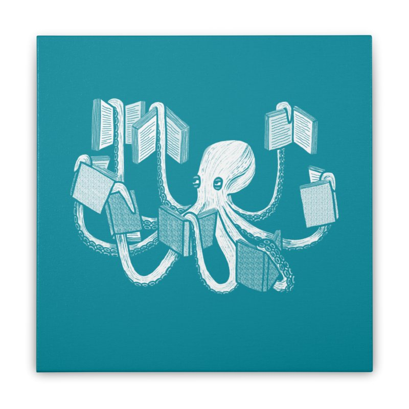 Armed with knowledge Home Stretched Canvas by Martina Scott's Shop