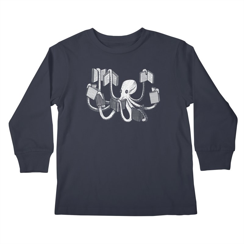 Armed with knowledge Kids Longsleeve T-Shirt by Martina Scott's Shop