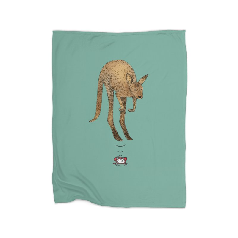 Smash the alarm Home Fleece Blanket Blanket by Martina Scott's Shop