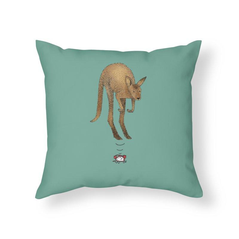 Smash the alarm Home Throw Pillow by Martina Scott's Shop