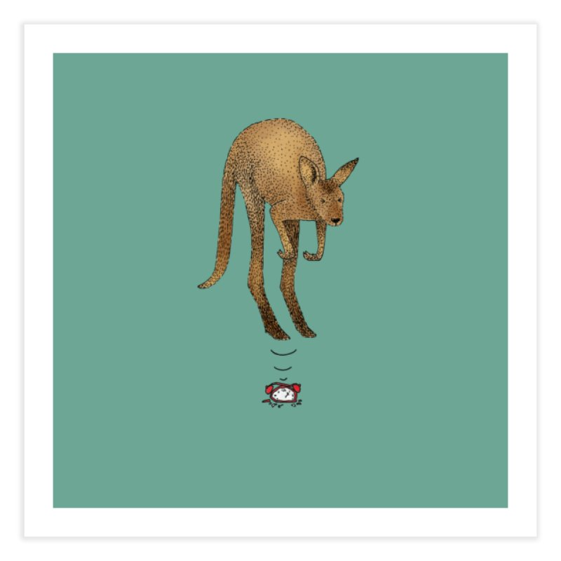Smash the alarm Home Fine Art Print by Martina Scott's Shop