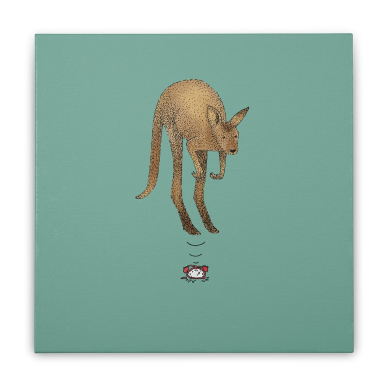 Smash the alarm Home Stretched Canvas by Martina Scott's Shop