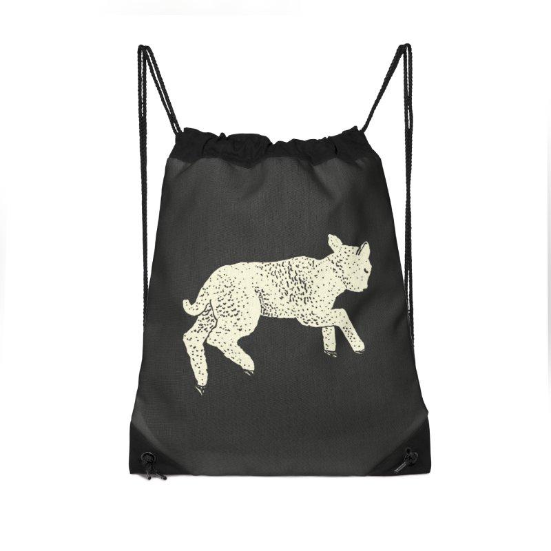 Little Leaping Lamb Accessories Drawstring Bag Bag by Martina Scott's Shop