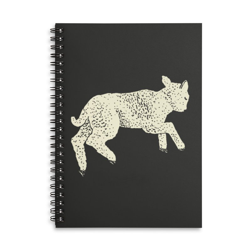 Little Leaping Lamb Accessories Lined Spiral Notebook by Martina Scott's Shop