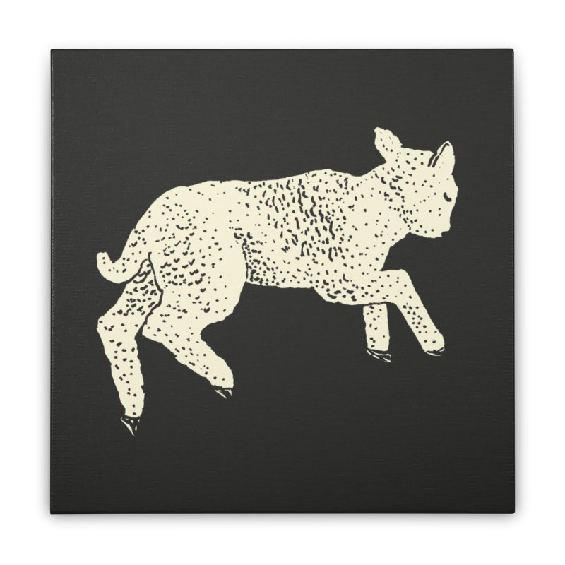 Little Leaping Lamb Home Stretched Canvas by Martina Scott's Shop