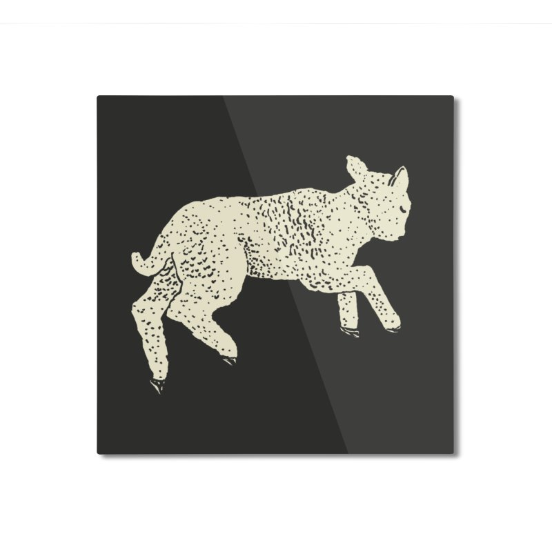Little Leaping Lamb Home Mounted Aluminum Print by Martina Scott's Shop