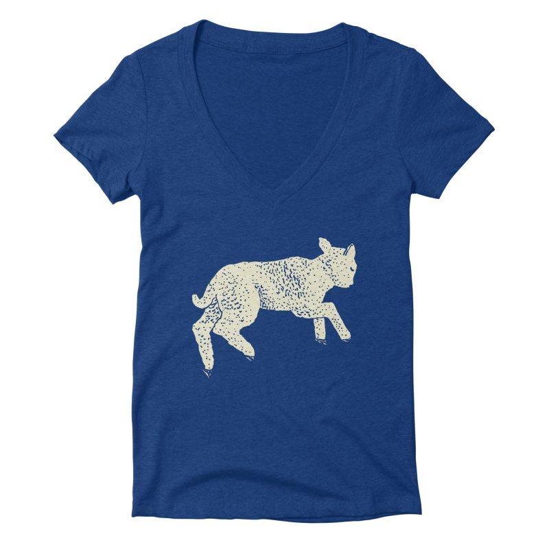 Little Leaping Lamb Women's Deep V-Neck V-Neck by Martina Scott's Shop