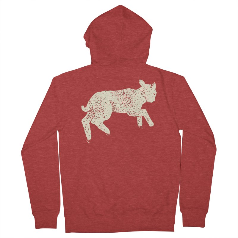 Little Leaping Lamb Men's French Terry Zip-Up Hoody by Martina Scott's Shop