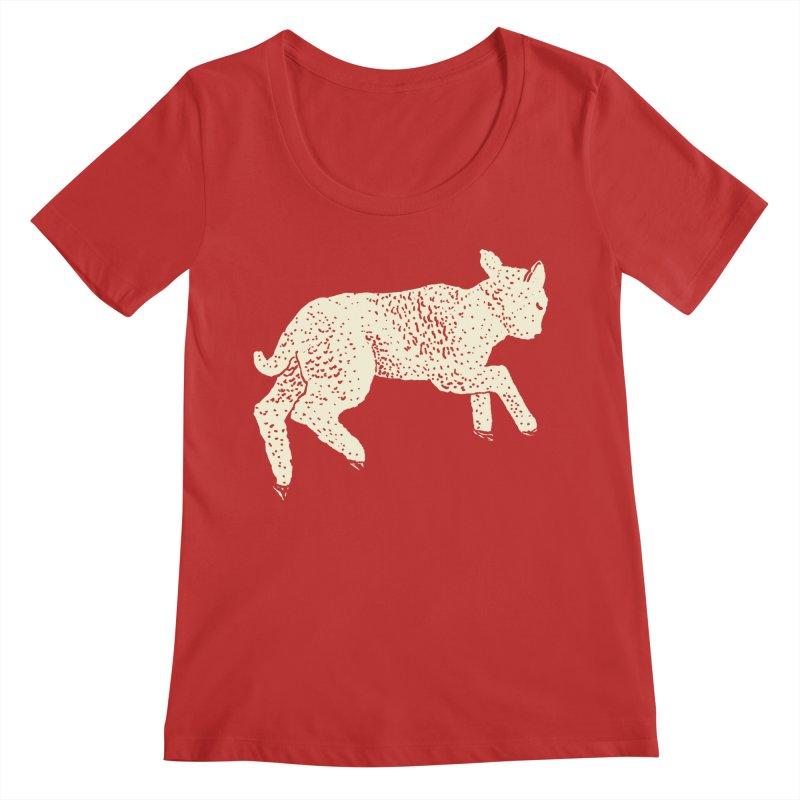 Little Leaping Lamb Women's Regular Scoop Neck by Martina Scott's Shop