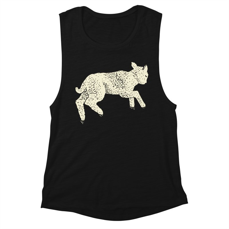 Little Leaping Lamb Women's Muscle Tank by Martina Scott's Shop