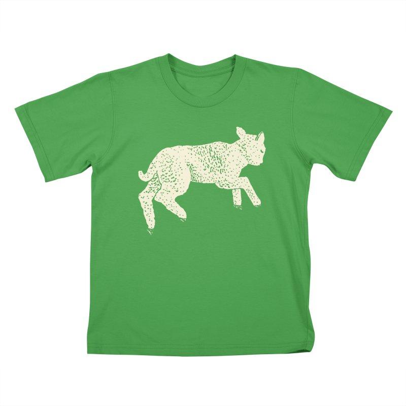 Little Leaping Lamb Kids T-Shirt by Martina Scott's Shop