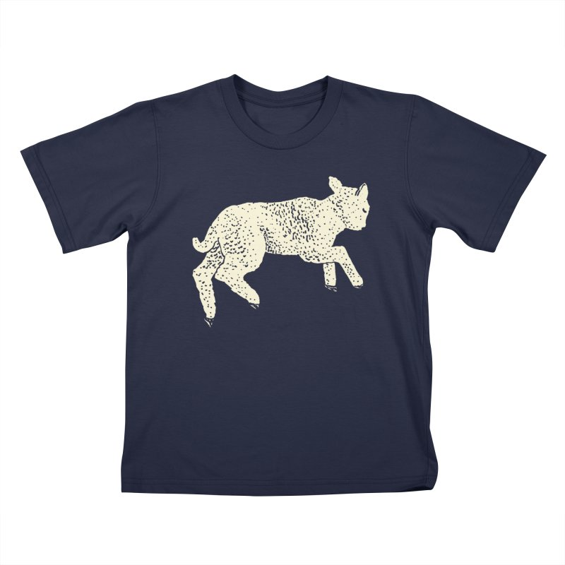 Little Leaping Lamb Kids T-Shirt by Martina Scott's Shop