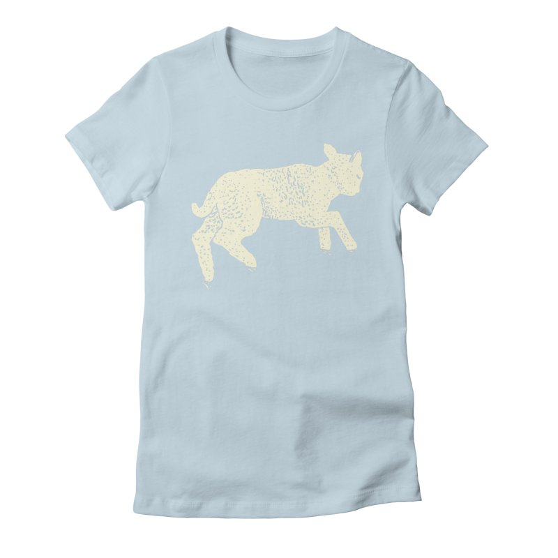 Little Leaping Lamb Women's Fitted T-Shirt by Martina Scott's Shop