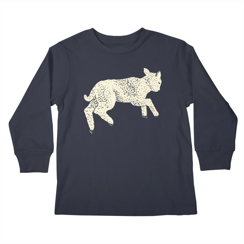 Little Leaping Lamb Kids Longsleeve T-Shirt by Martina Scott's Shop