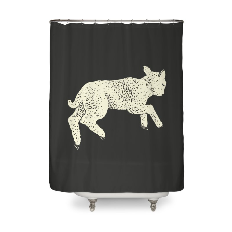 Little Leaping Lamb Home Shower Curtain by Martina Scott's Shop