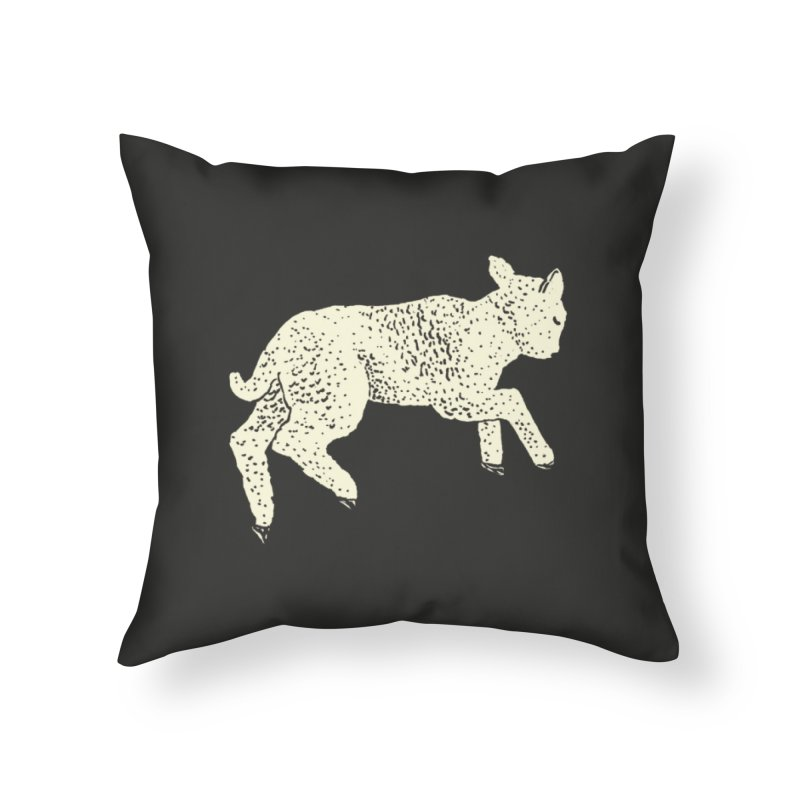 Little Leaping Lamb Home Throw Pillow by Martina Scott's Shop