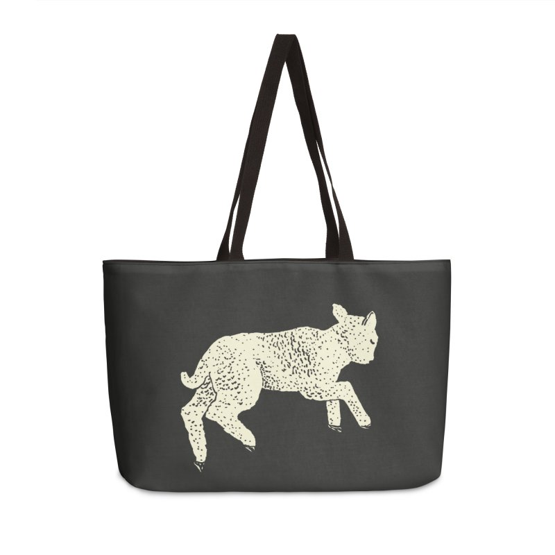 Little Leaping Lamb Accessories Weekender Bag Bag by Martina Scott's Shop