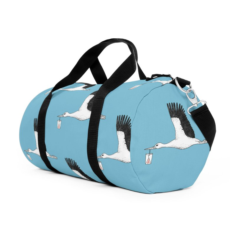 Special Delivery Accessories Duffel Bag Bag by Martina Scott's Shop