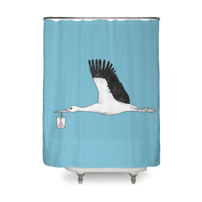 Special Delivery Home Shower Curtain by Martina Scott's Shop