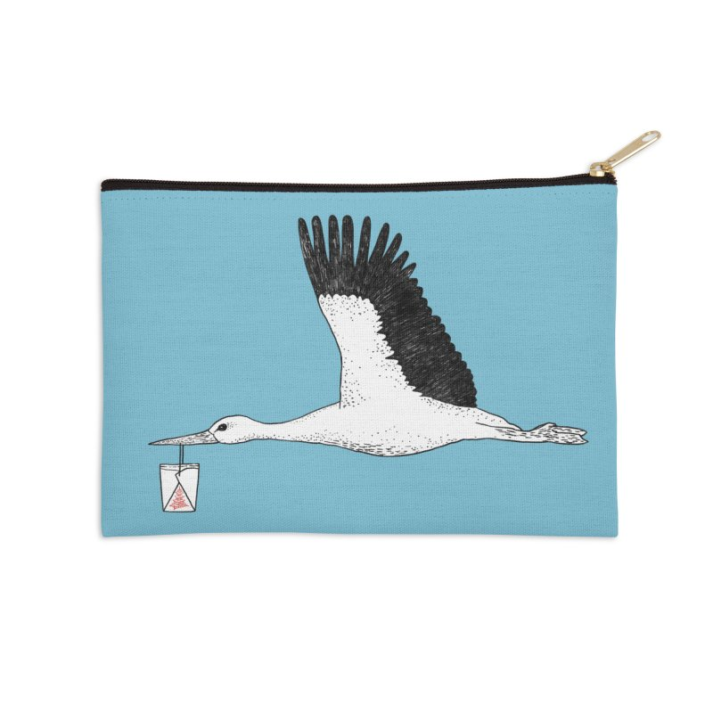 Special Delivery Accessories Zip Pouch by Martina Scott's Shop