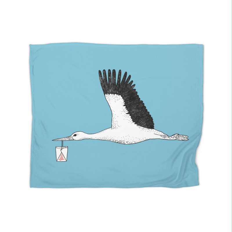 Special Delivery Home Fleece Blanket Blanket by Martina Scott's Shop