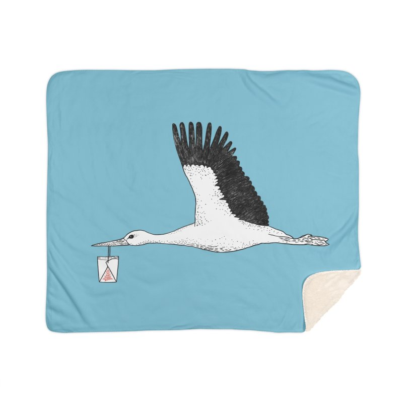 Special Delivery Home Sherpa Blanket Blanket by Martina Scott's Shop