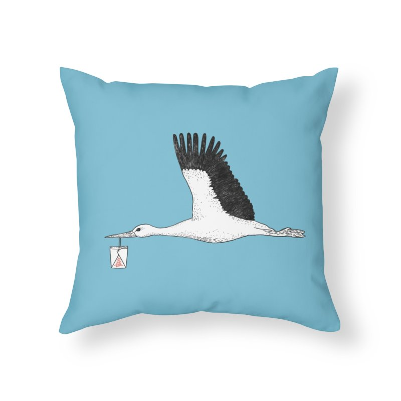 Special Delivery Home Throw Pillow by Martina Scott's Shop
