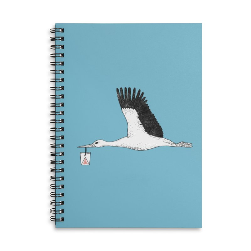 Special Delivery Accessories Lined Spiral Notebook by Martina Scott's Shop