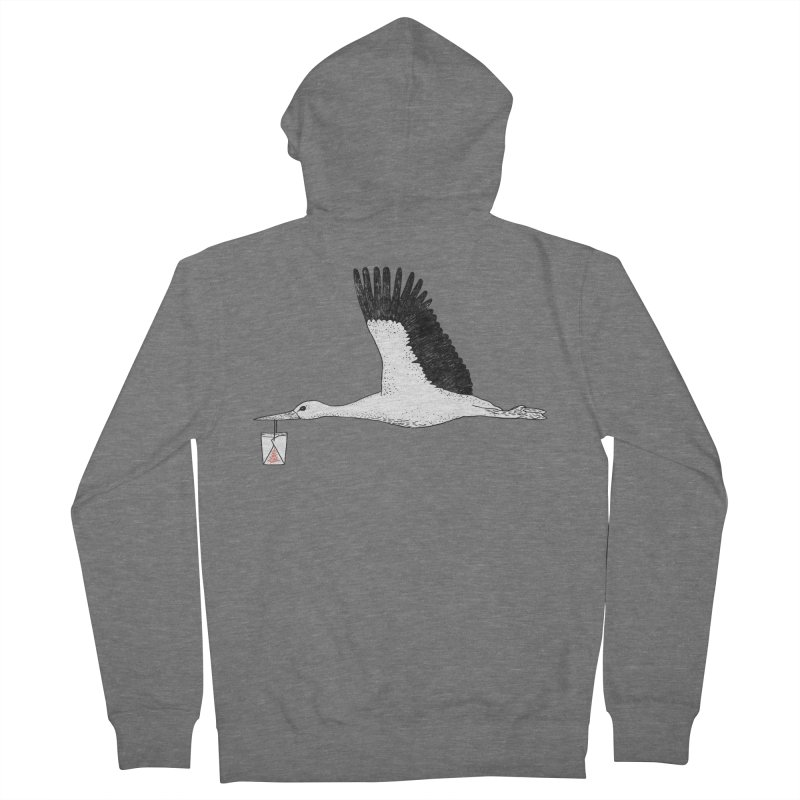 Special Delivery Men's French Terry Zip-Up Hoody by Martina Scott's Shop