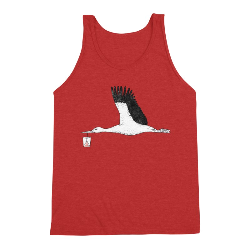 Special Delivery Men's Triblend Tank by Martina Scott's Shop