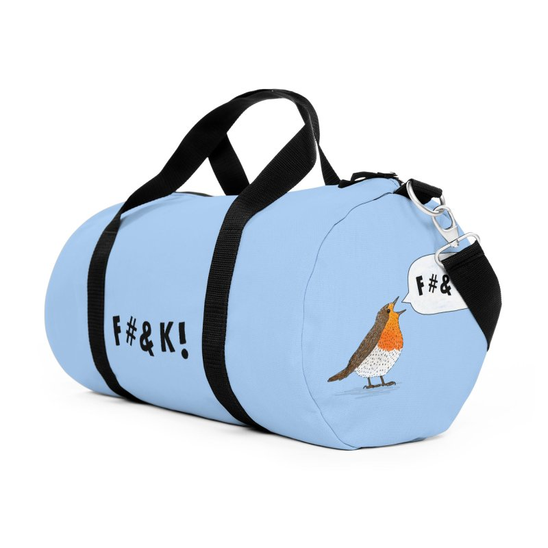 Fuck Robin Accessories Duffel Bag Bag by Martina Scott's Shop
