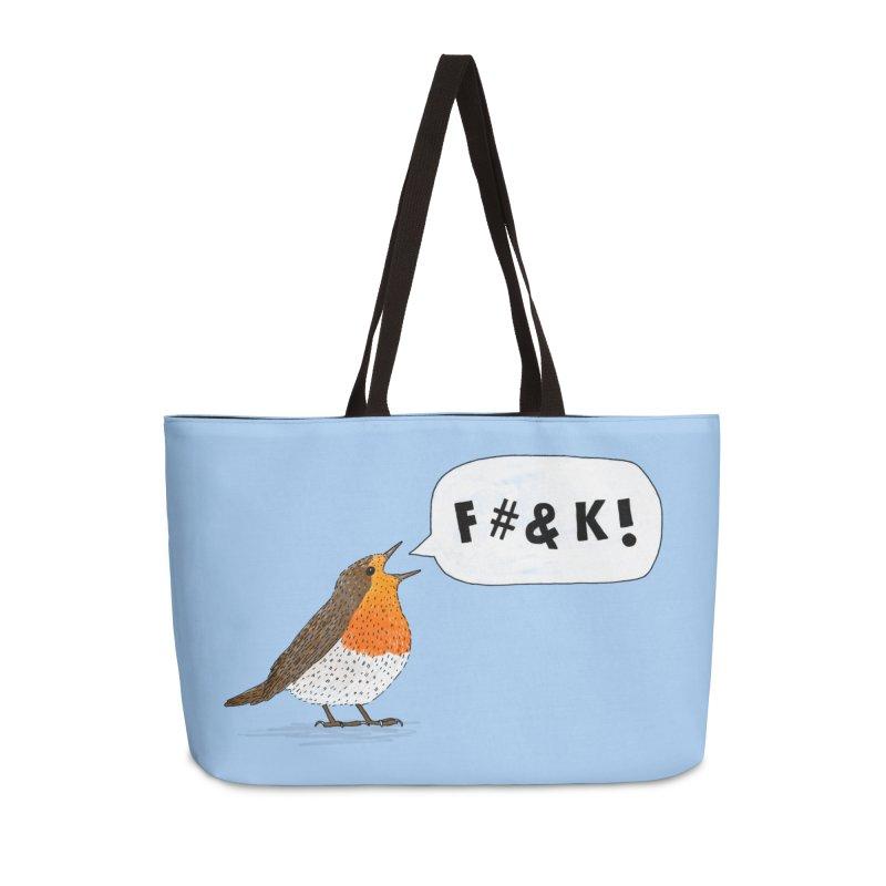 Fuck Robin Accessories Weekender Bag Bag by Martina Scott's Shop