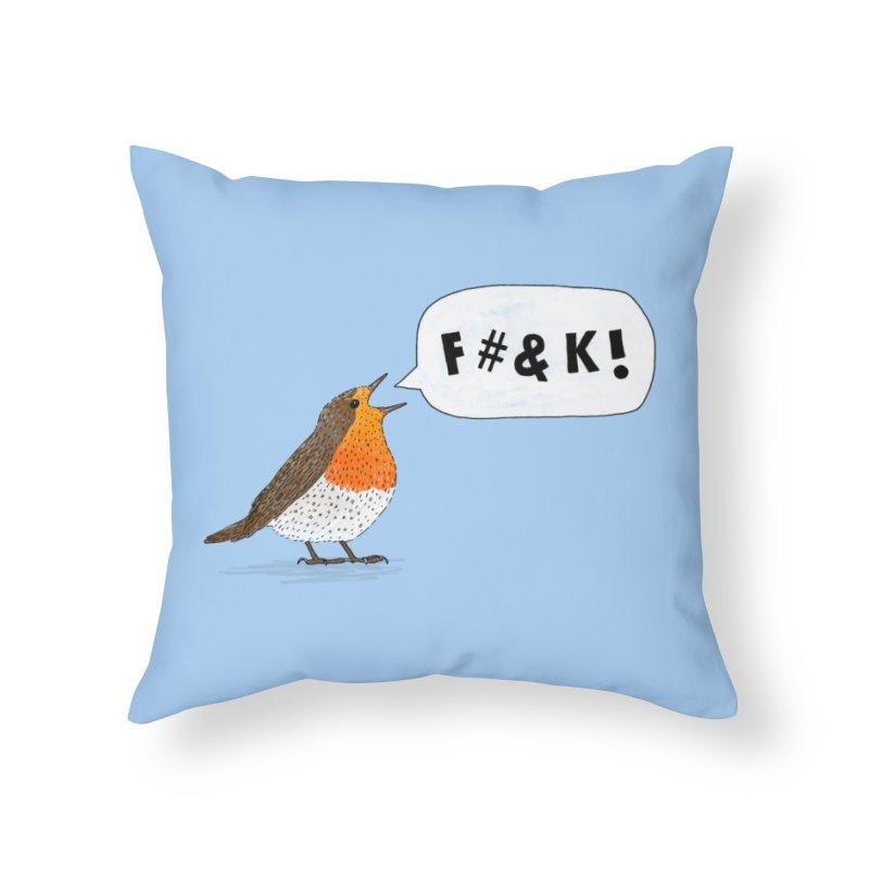 Fuck Robin Home Throw Pillow by Martina Scott's Shop