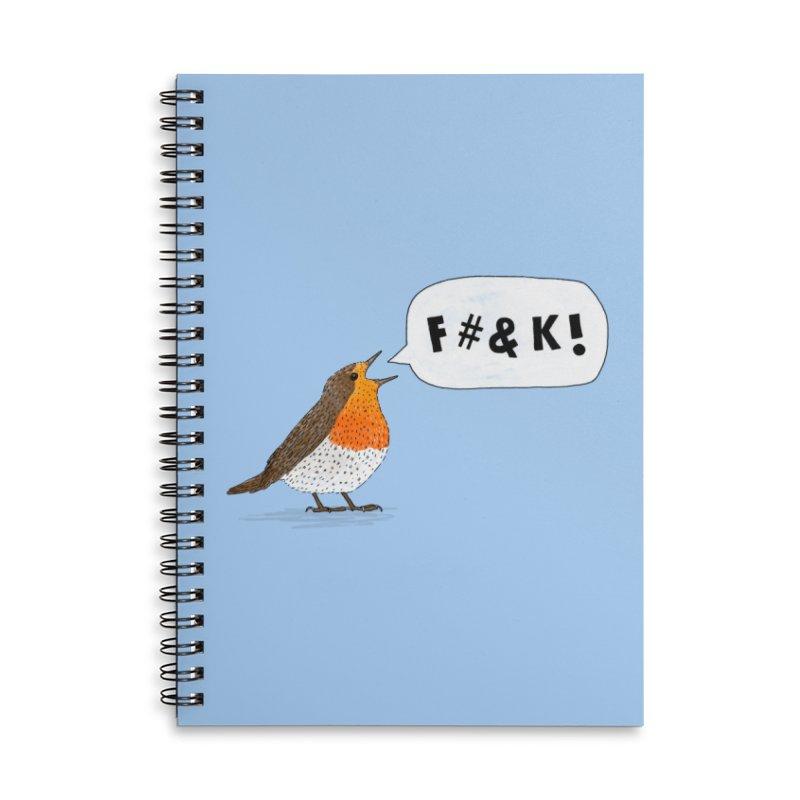 Fuck Robin Accessories Lined Spiral Notebook by Martina Scott's Shop